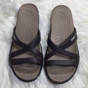NEW Crocs brown sandals 7
